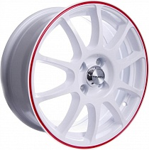 TG Racing TGR 001 6x15 5x114,3 ET 45 Dia 67,1 (WHITE RED RING)